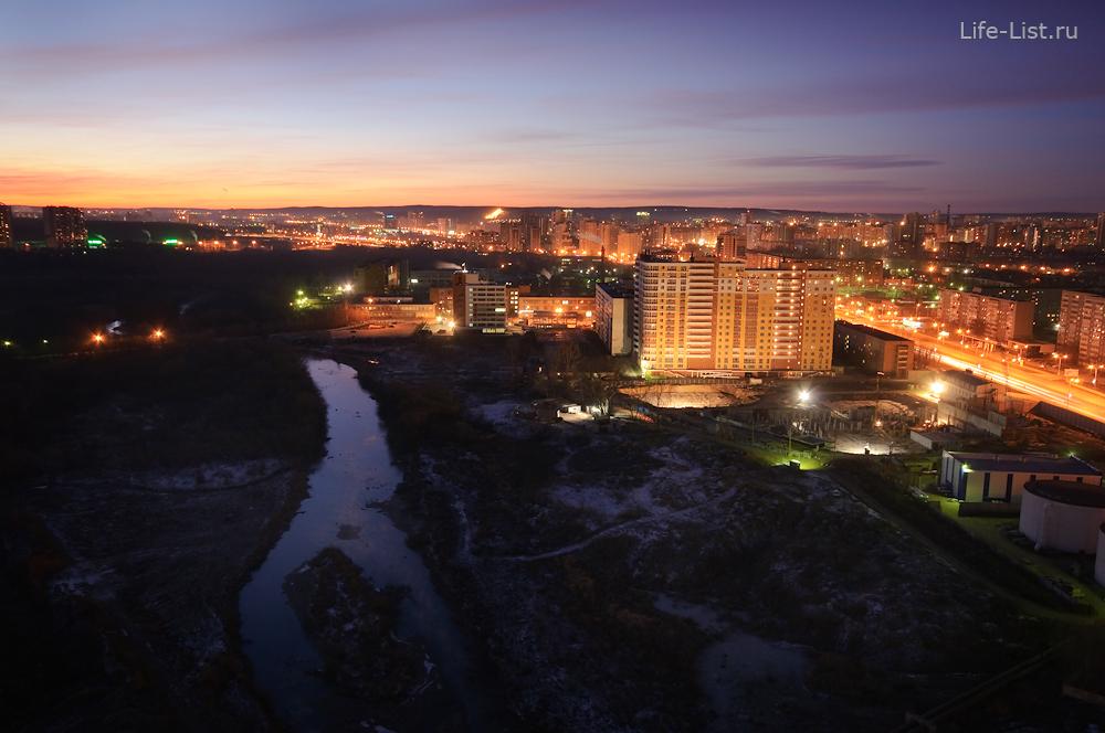 Река Исеть вдоль улица Машинная Екатеринбург