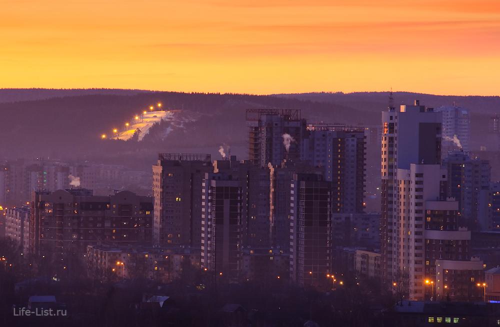 онежская саввы белых утренний Екатеринбург с высоты