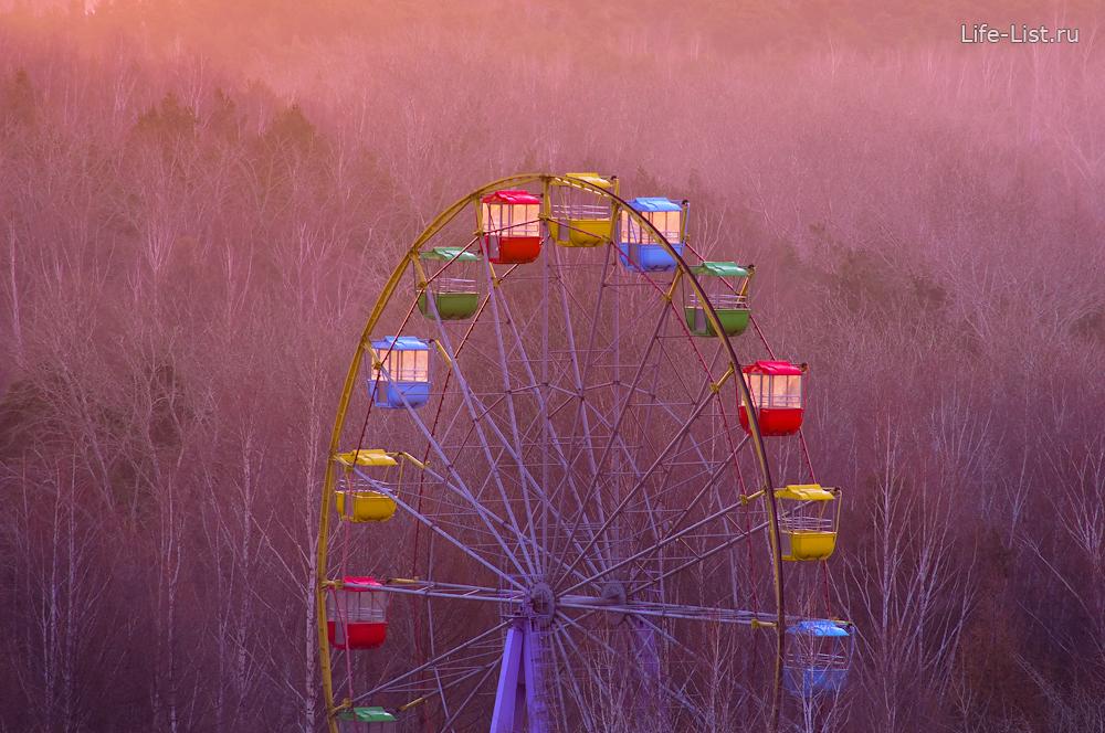 красивое фото колесо обозрения в парке Маяковского фото Виталий Караван