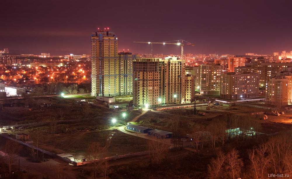 Ночной Екатеринбург. Южная