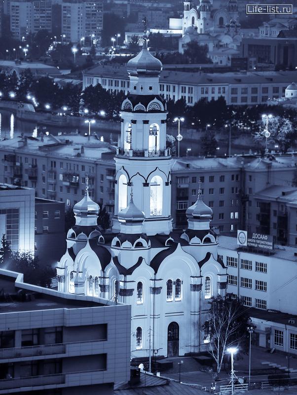 фото Храм Большой златоуст в Екатеринбурге вид с высоты