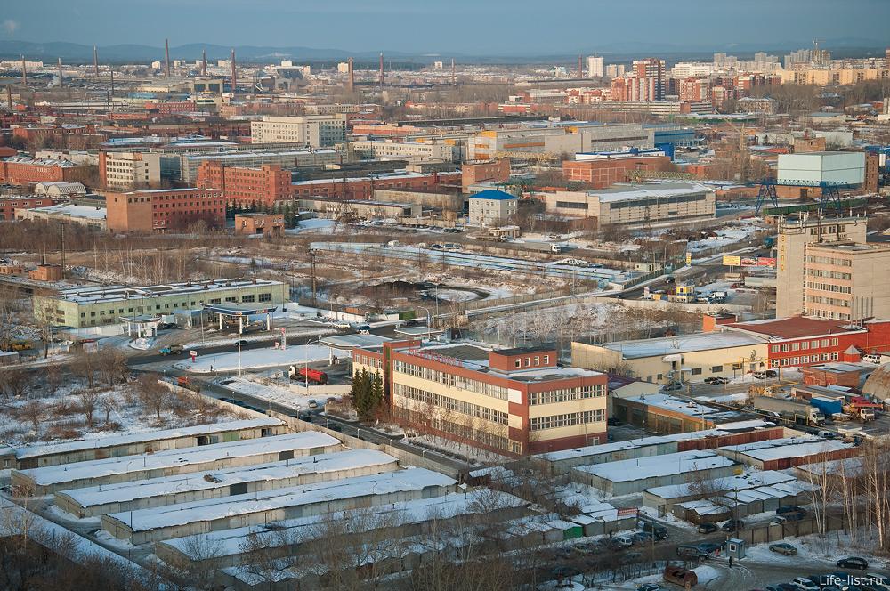 Екатеринбург с высоты завод имени Калинина