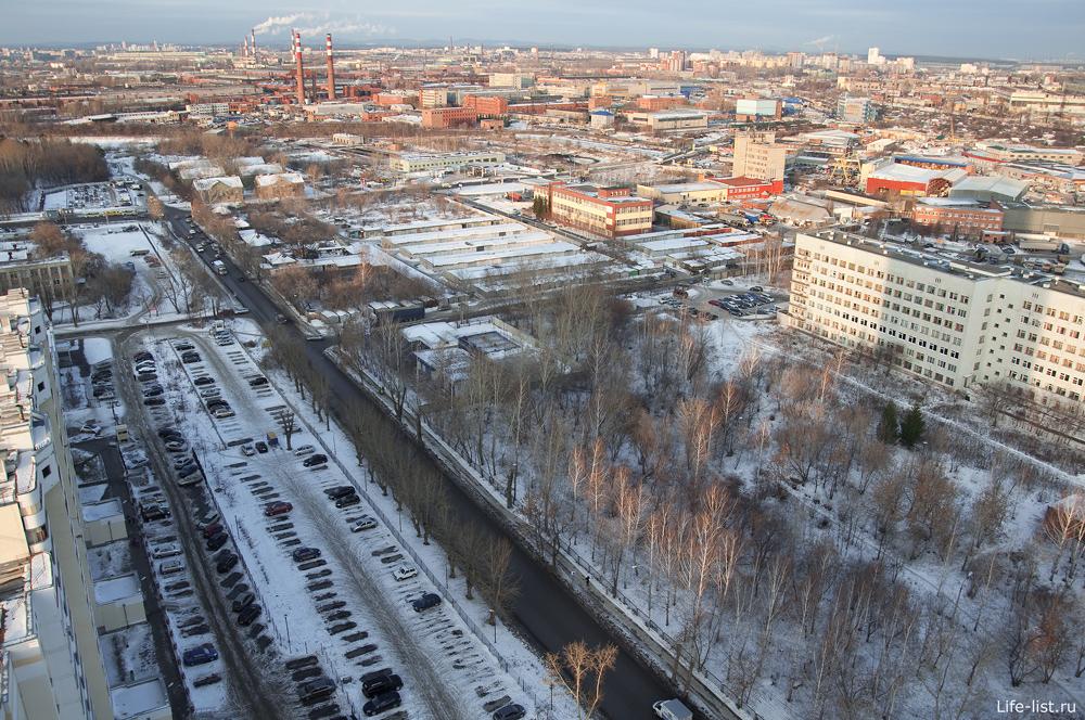 Екатеринбург с высоты район пионерский поселок