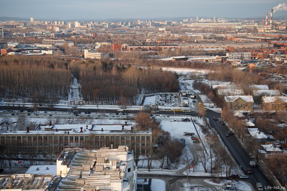 Екатеринбург с высоты перекресток вилонова учителей