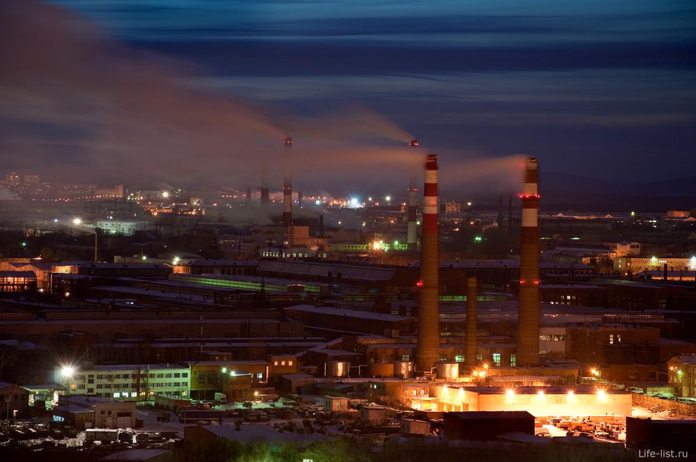 Скачать обои Вечерний Екатеринбург Промышленный