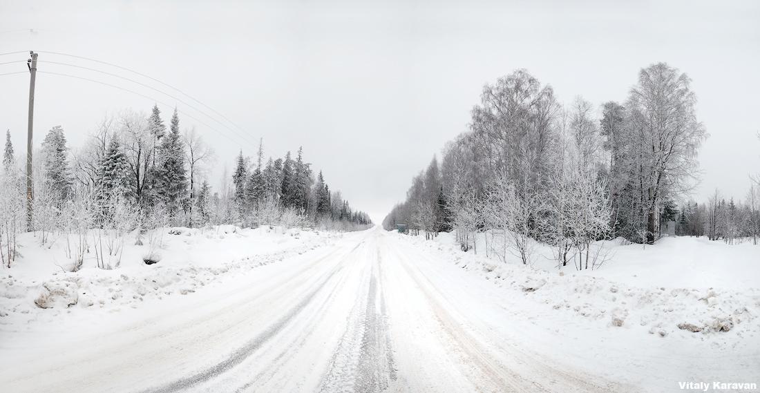 фото зимняя деревенская дорога Новоуральск