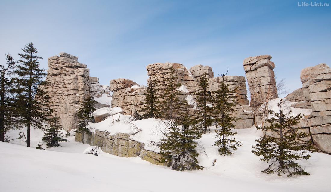 скала Крепость вершина Юрма зимнее фото