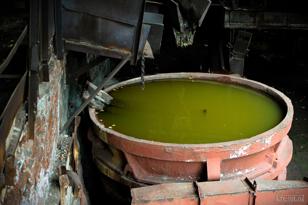 чугуновозный ковш с водой музей под открытым небом фото