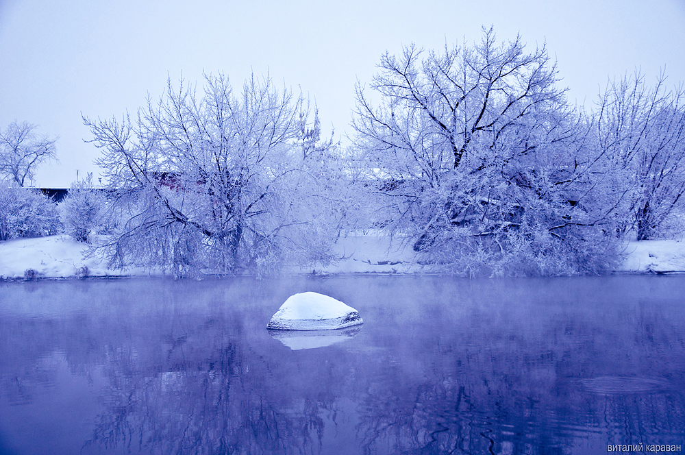 Зимней вечер на реке Исеть