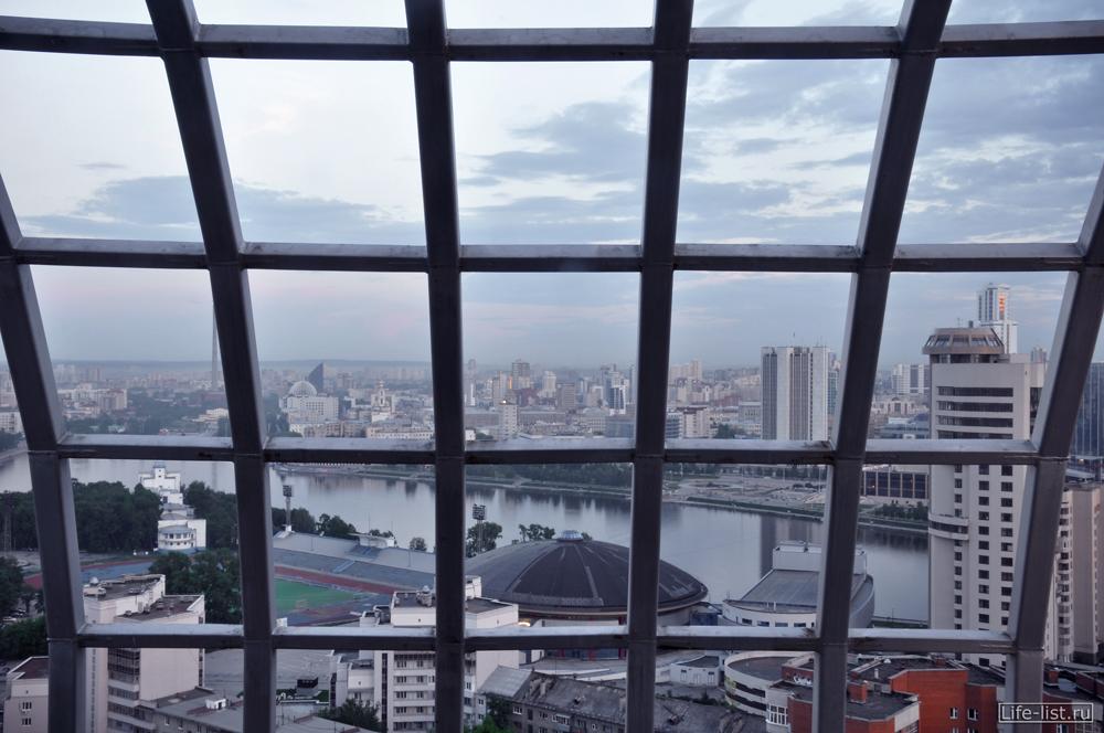 Вид на Екатеринбург с ЖК Космос