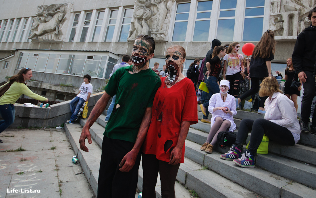 фото Виталий Караван флешмоб зомби в ekb