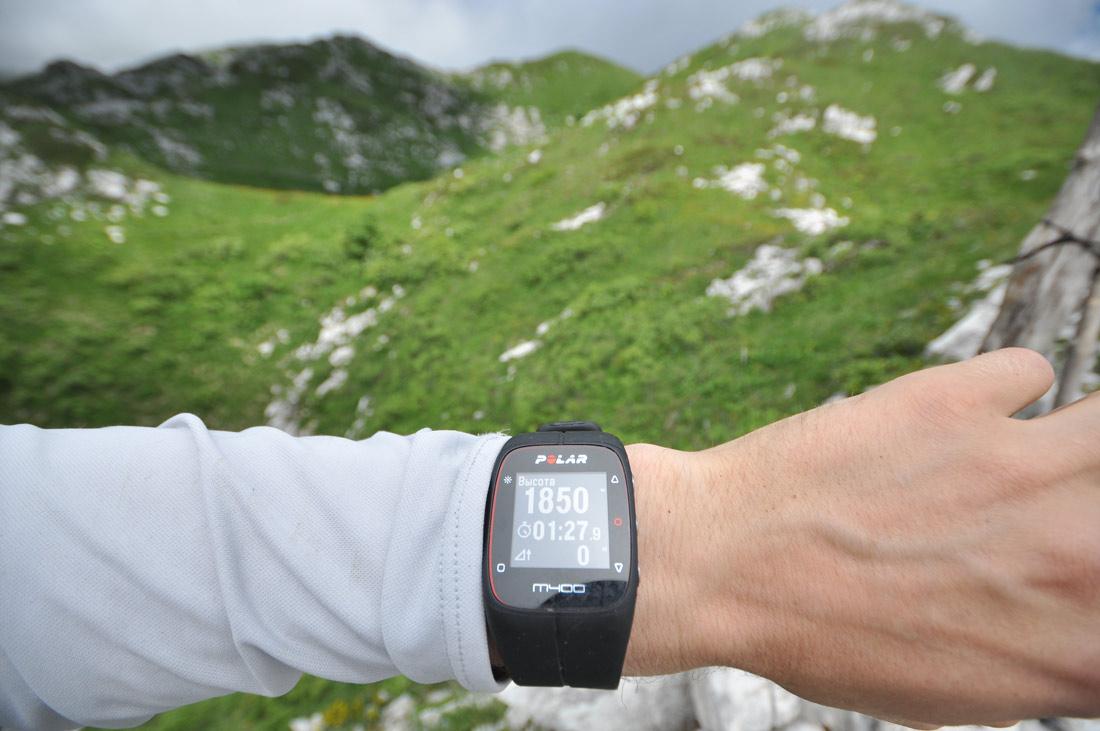горы Абхазии часы полар высота 1850м