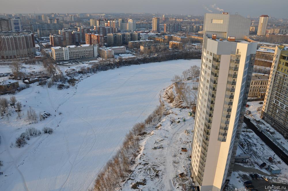 Екатеринбург вид с высоты Исеть заречный
