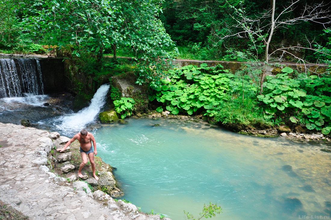 озеро-купальня на исторической тропе Симона Кананита