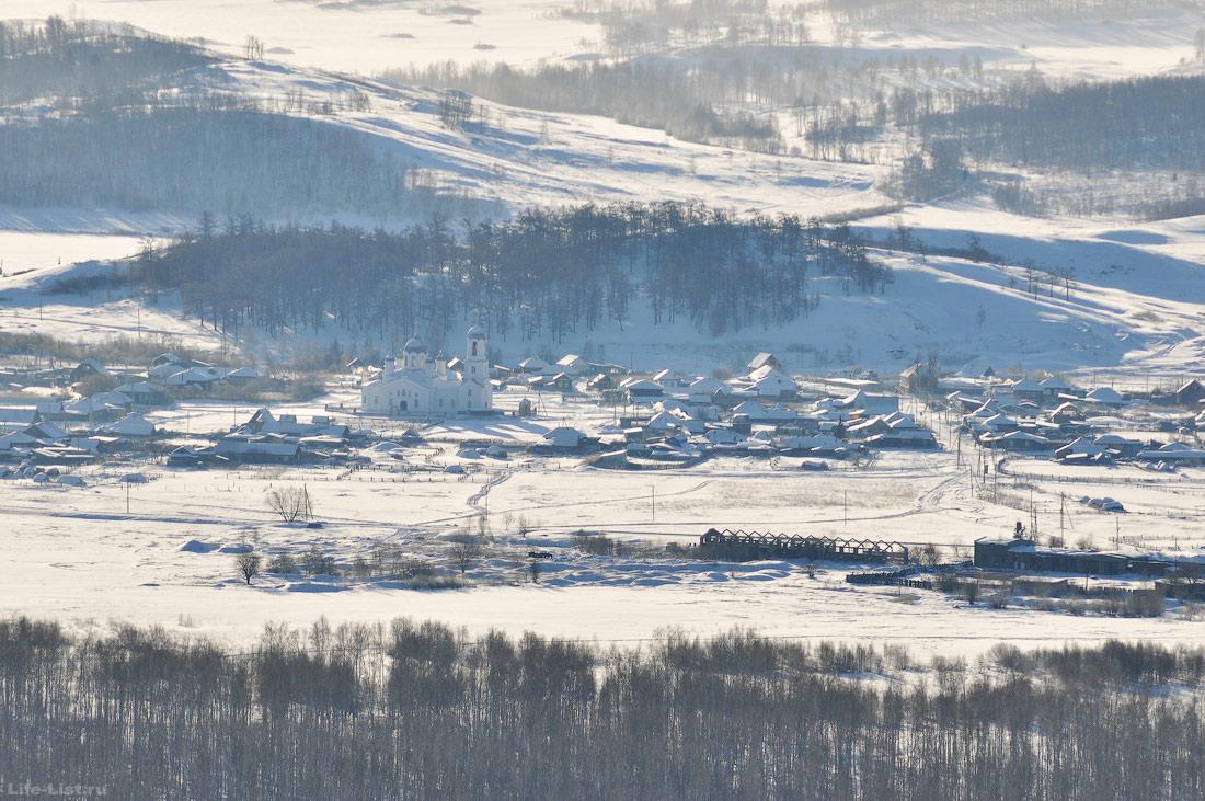 вид с высоты деревня Вознесенка Башкирия Южный урал