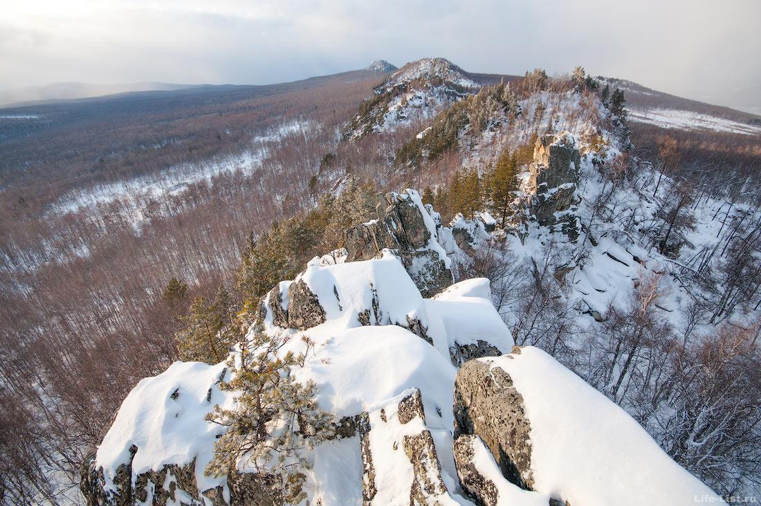 закат на вершине хребта Алабия Южный Урал