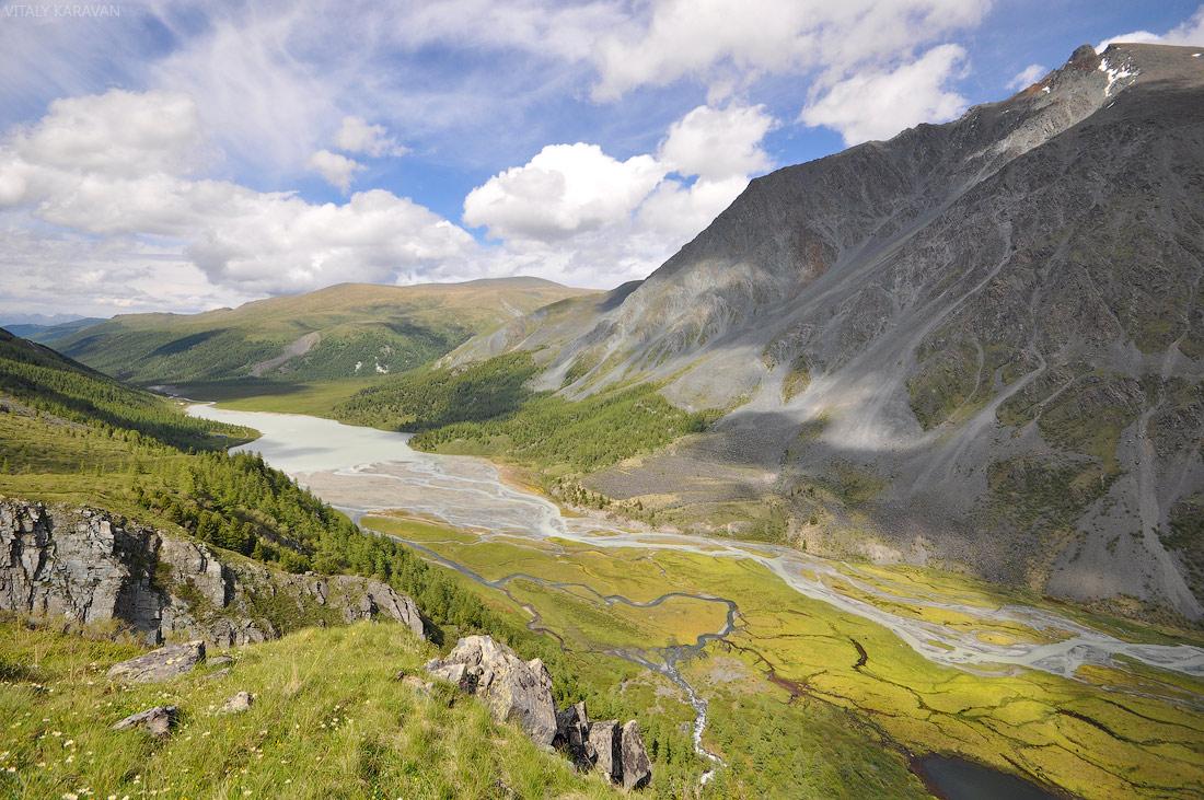 долина реки Аккем красивое фото Алтай