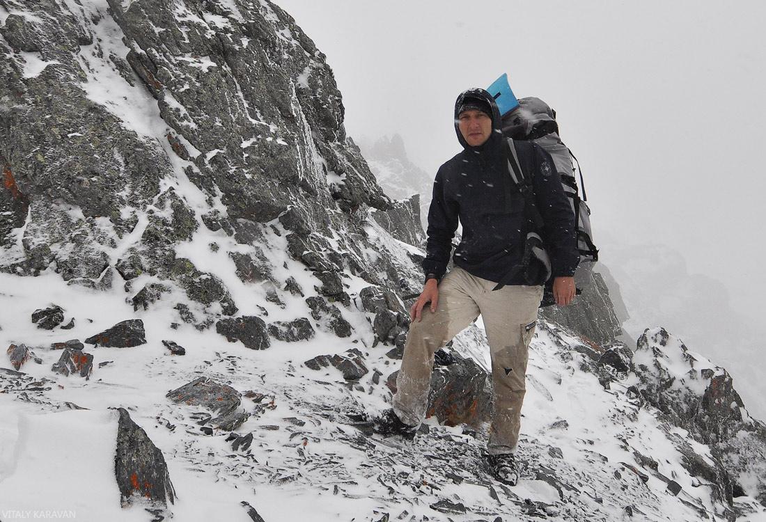 Перевал Рига турист Виталий Караван Алтай