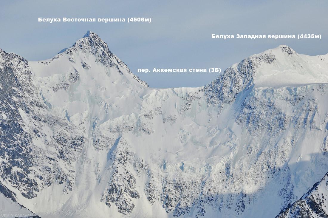 гора Белуха Алтай с описанием вершинам