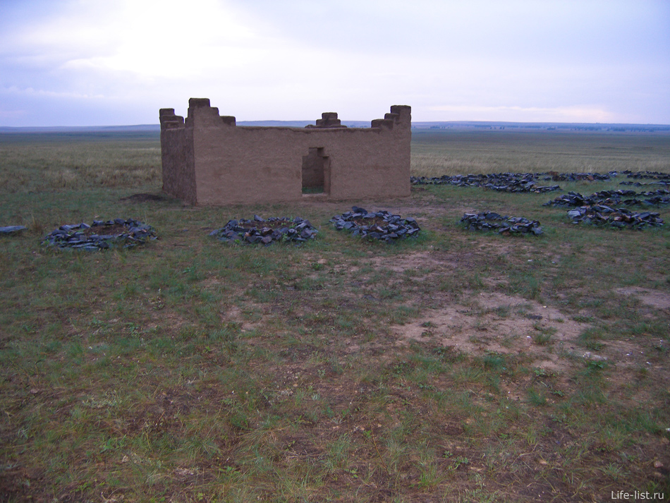 постройки в Аркаиме