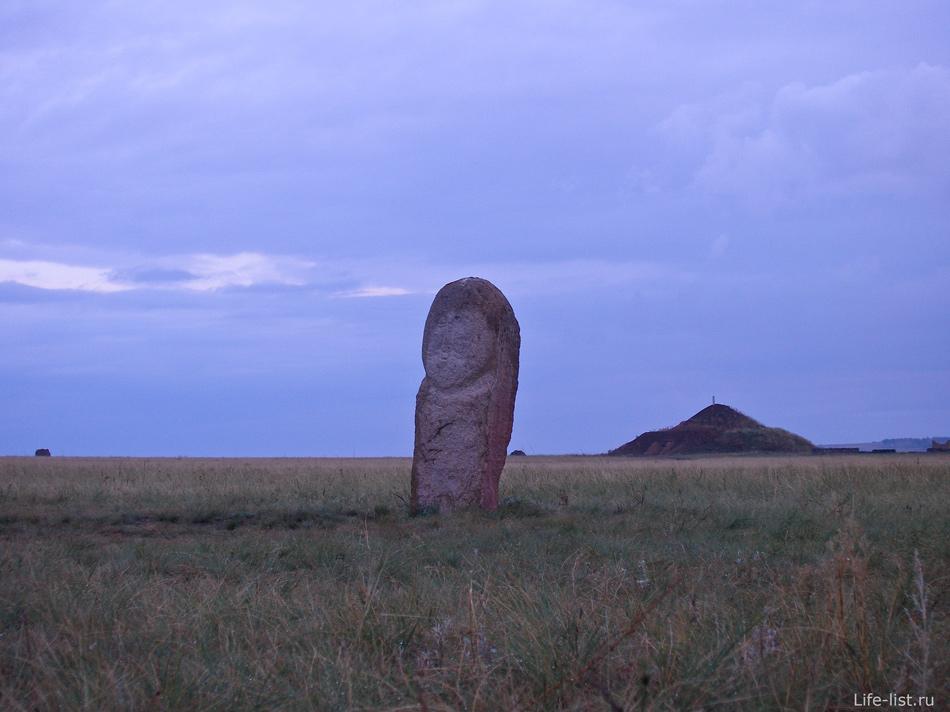 Каменная баба в аркаиме