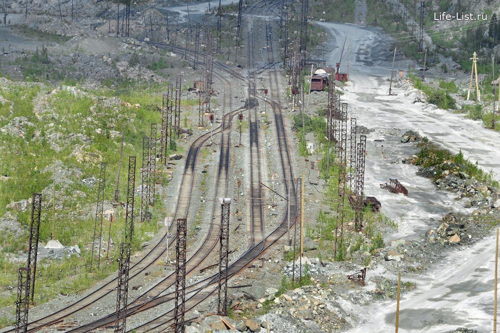 железная дорога в асбестовском карьере асбест