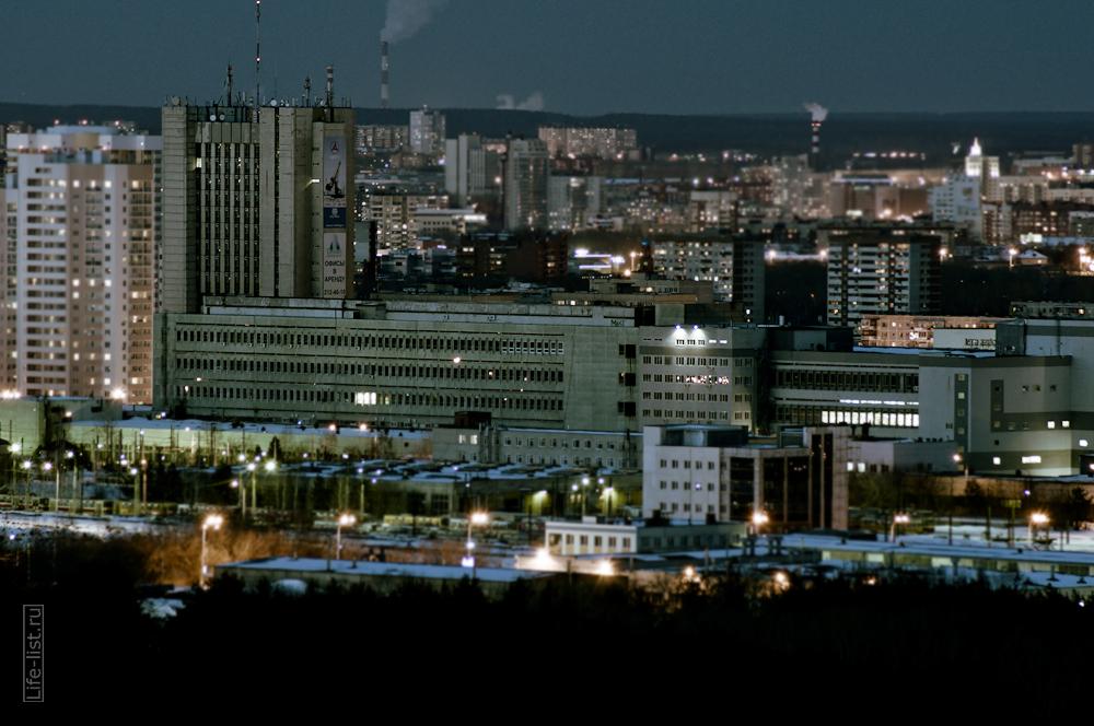 Вечерний Екатеринбург с высоты БЦ Олимп Премиум