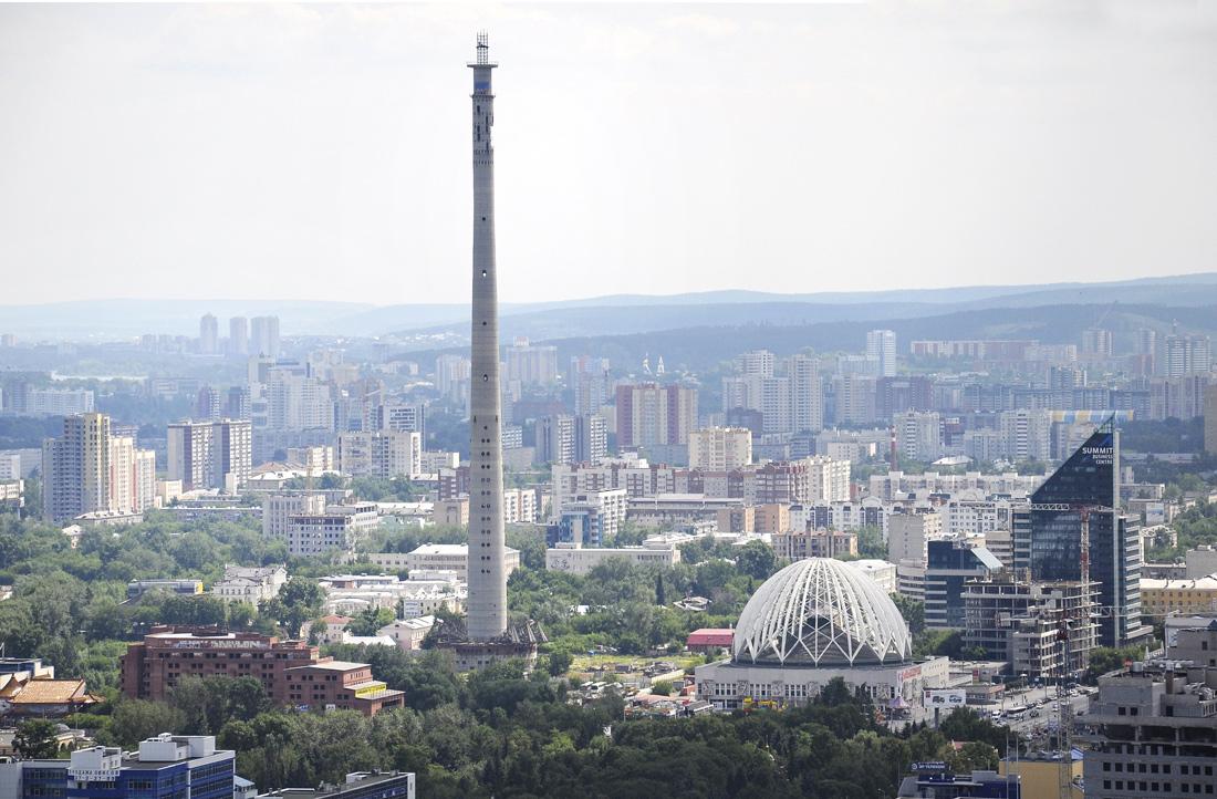 Недостроенная башня в Екатеринбурге 2012г