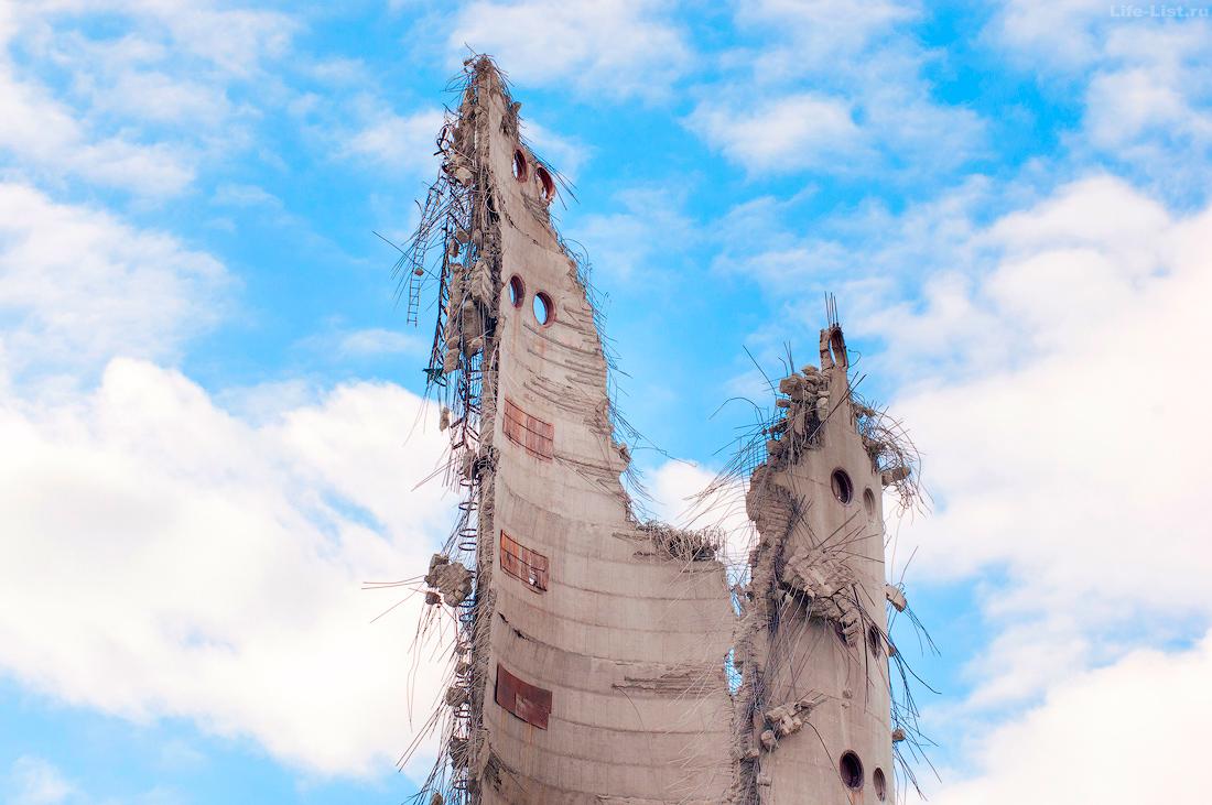 Снос заброшенной башни в Екатеринбурге 2018год