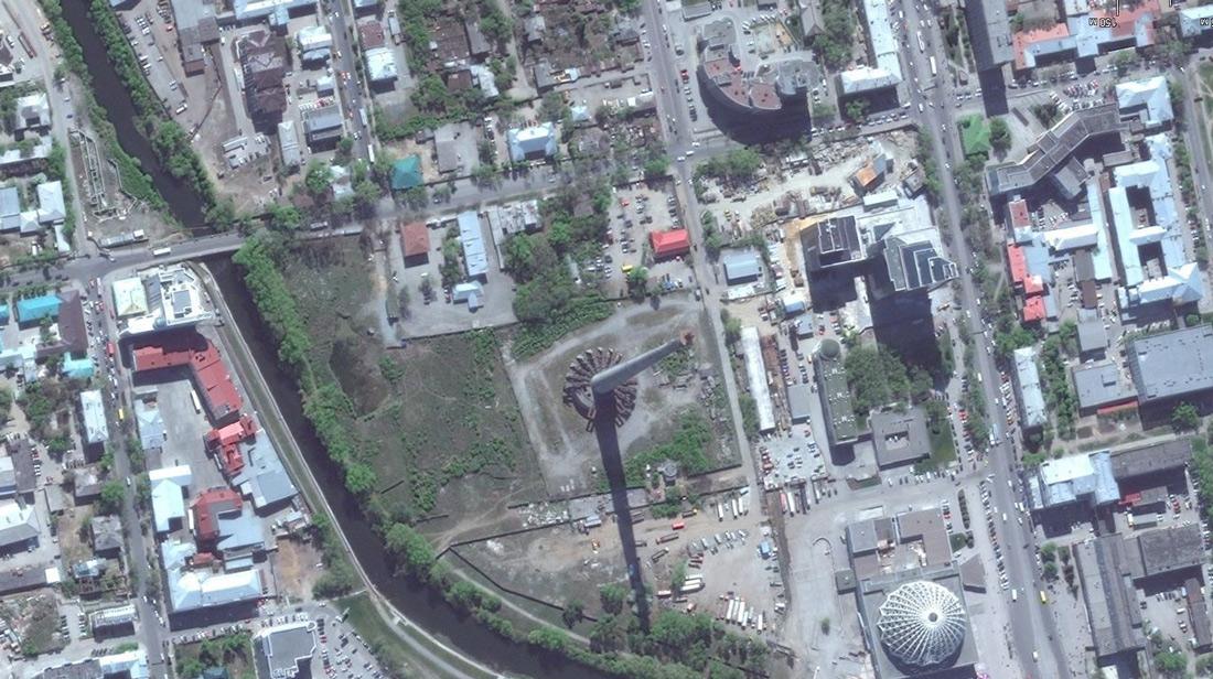 Спутниковая карта башни