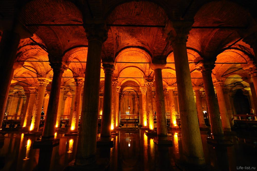 Туристы в цистернах базилика