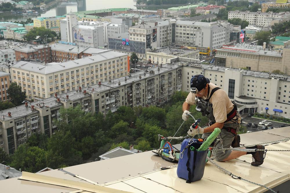 высотный клининг на бц Антей