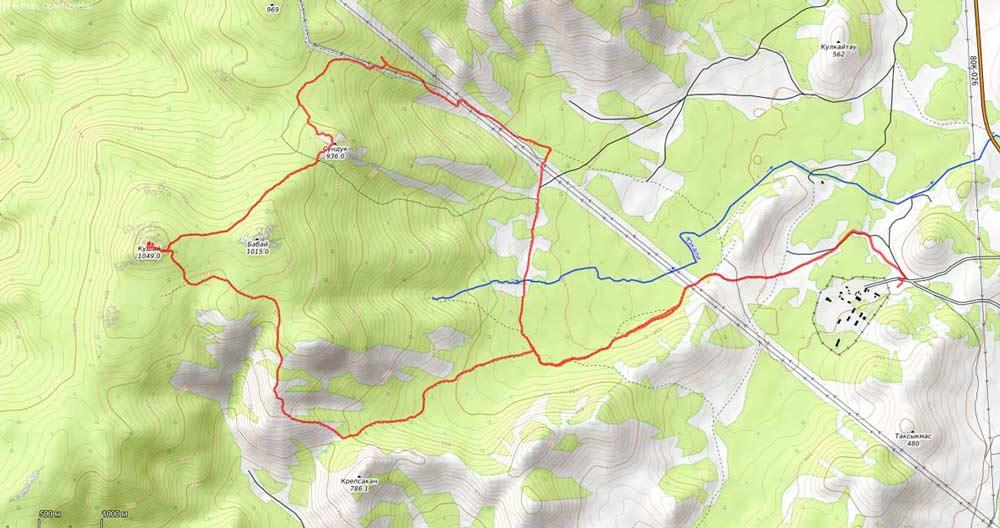 карта на гору кушай