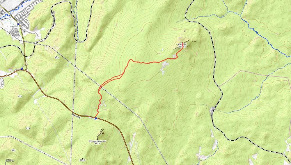 карта на гору курташтау