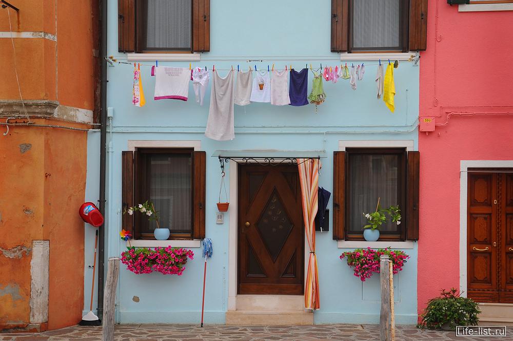 Аккуратные домики Бурано Венеция