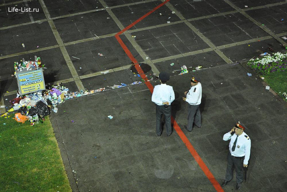 после дня города полиция и мусор