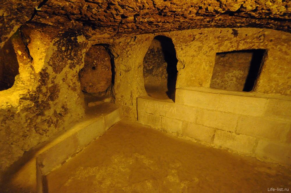 Турция подземный город Деринкуйю