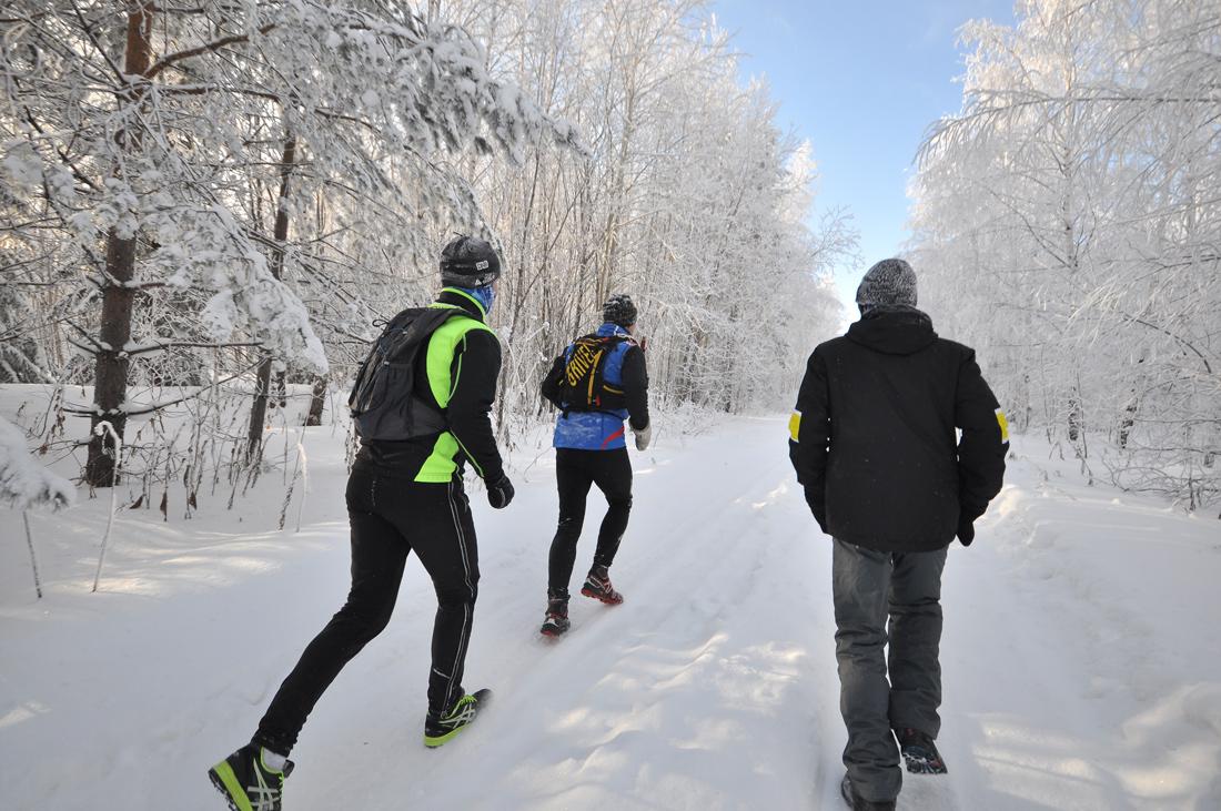 Экстремальный бег зимой
