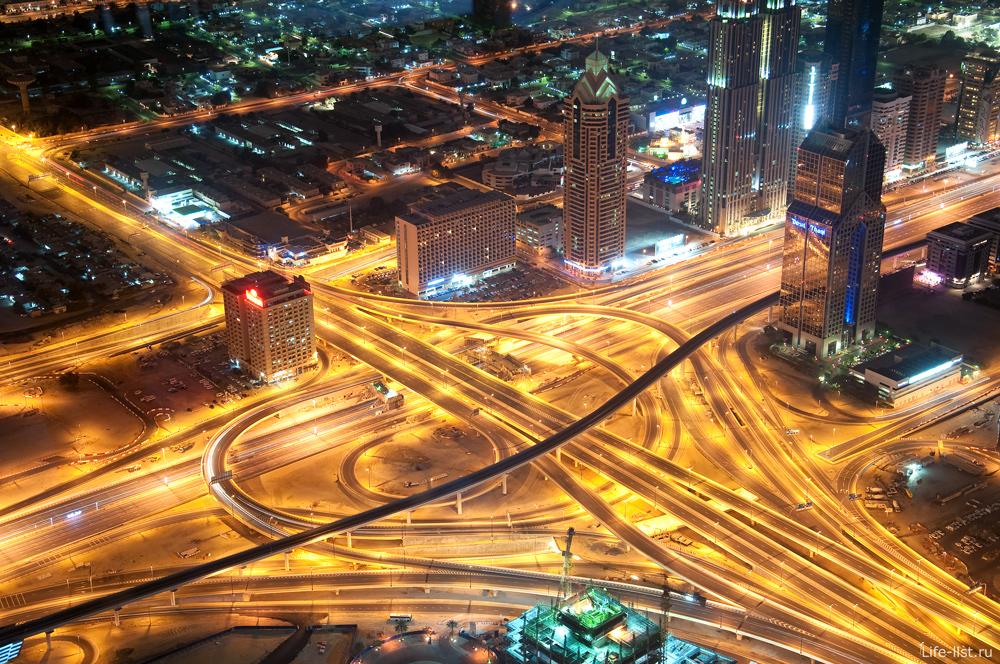 Дубай Бурдж Халифа со смотровой площадки