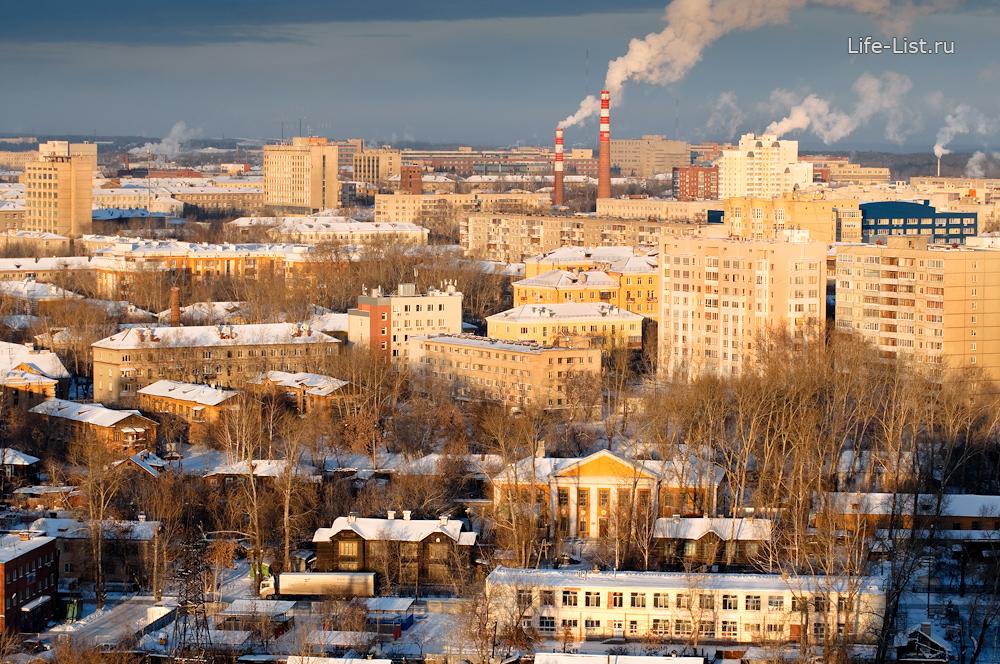 Втузгородок микрорайон с высоты Екатеринбург