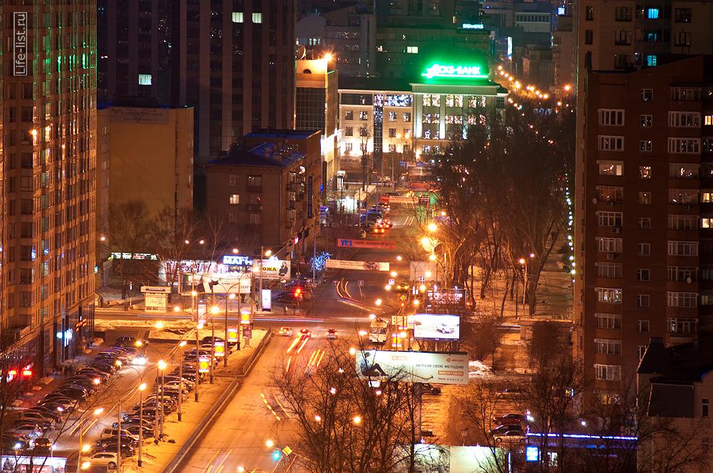 перекресток Декабристов Белинского вечерний Екатеринбург с высоты