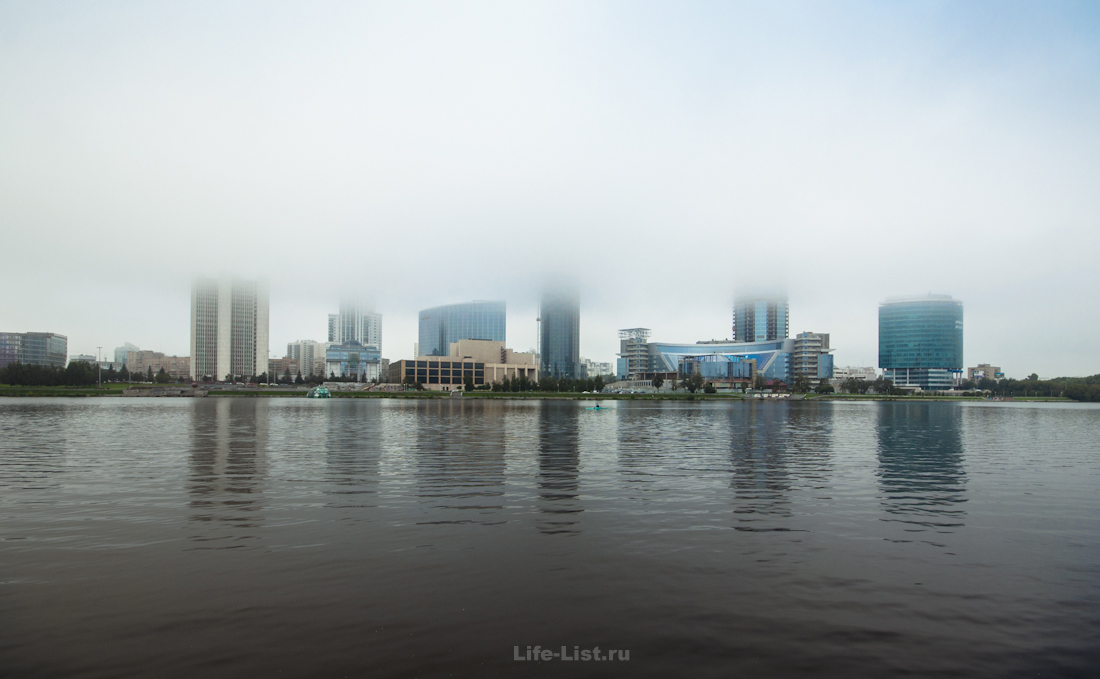 городской пруд Екатеринбург туман утро фотография