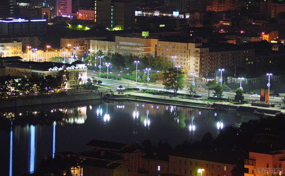 Плотинка с высоты Екатеринбург
