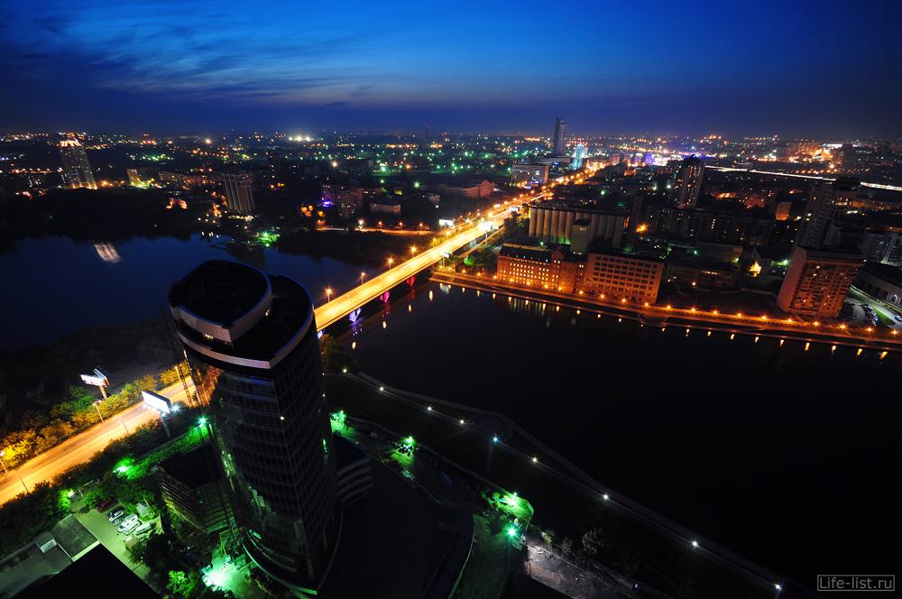 скачать обои Екатеринбург макаровский мост с высоты