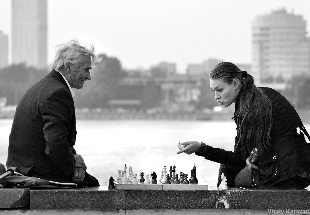 Шахматисты на Плотинке Екатеринбург photo Vitaly Karavan