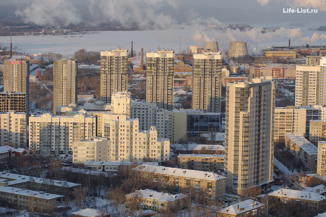 жк Адмиральский с высоты Екатеринбург фото Виталий Караван