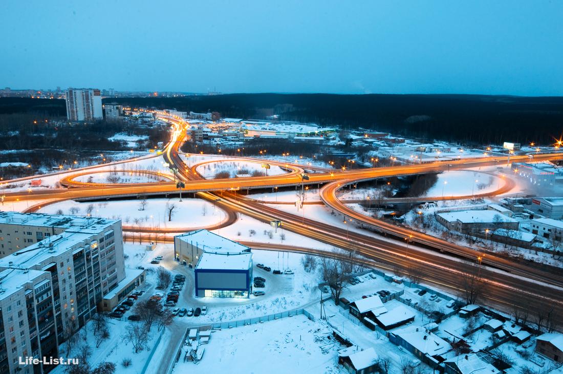 развязка базовом кольцовский тракт Екатеринбург фото Виталий Караван