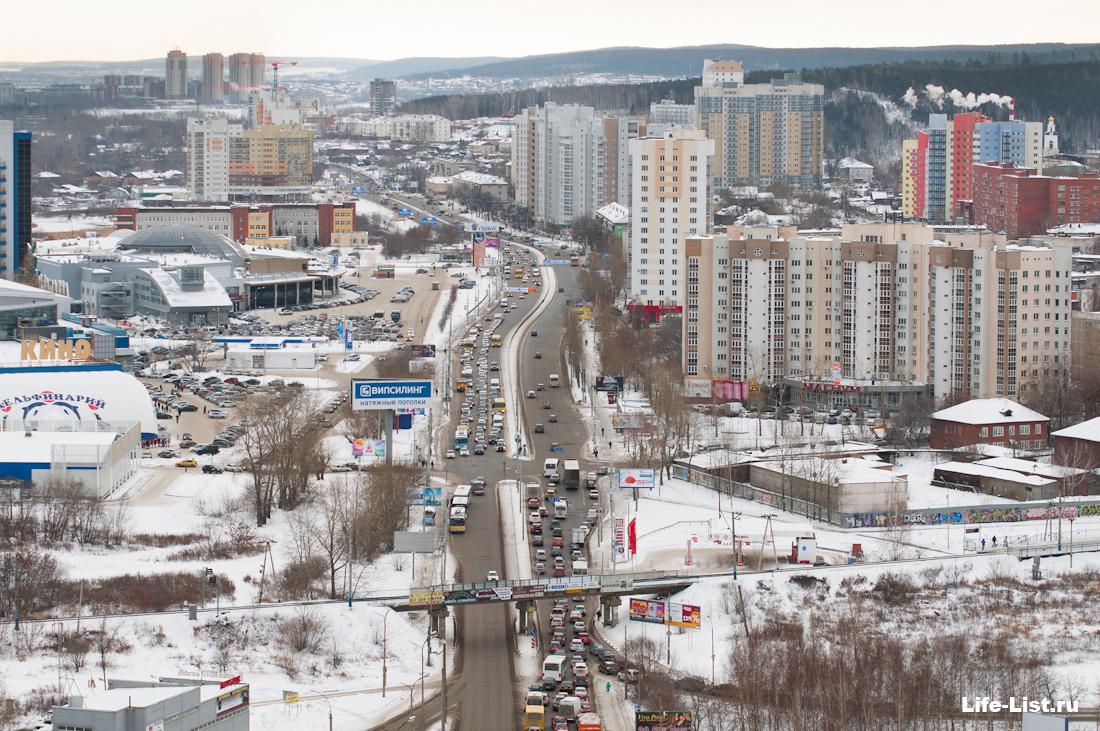 Щербакова в сторону уктуса Екатеринбург