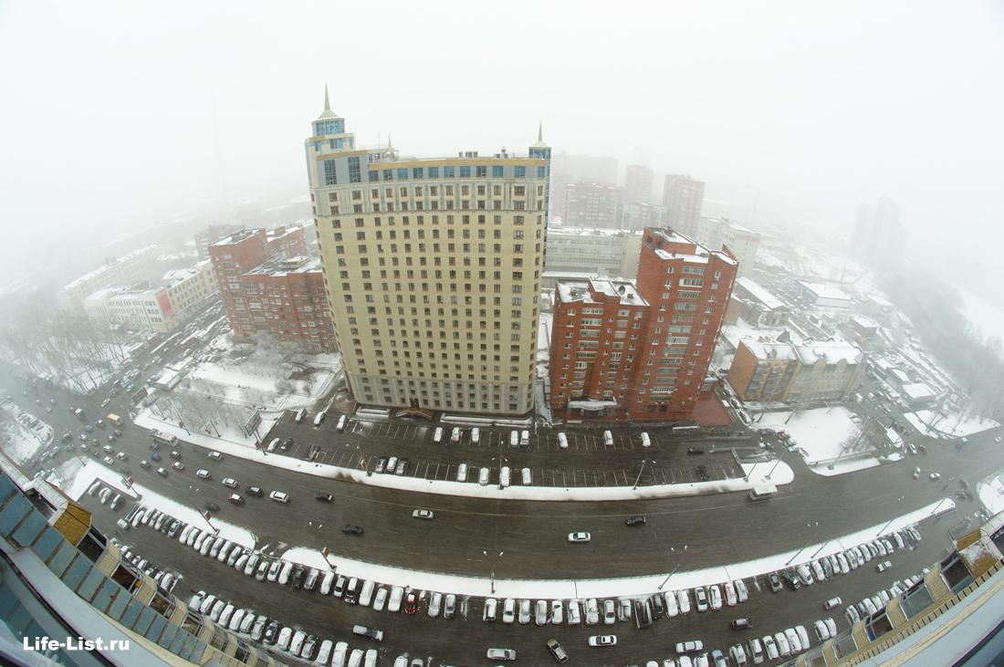улица с дома белинского 86 зима фото с высоты