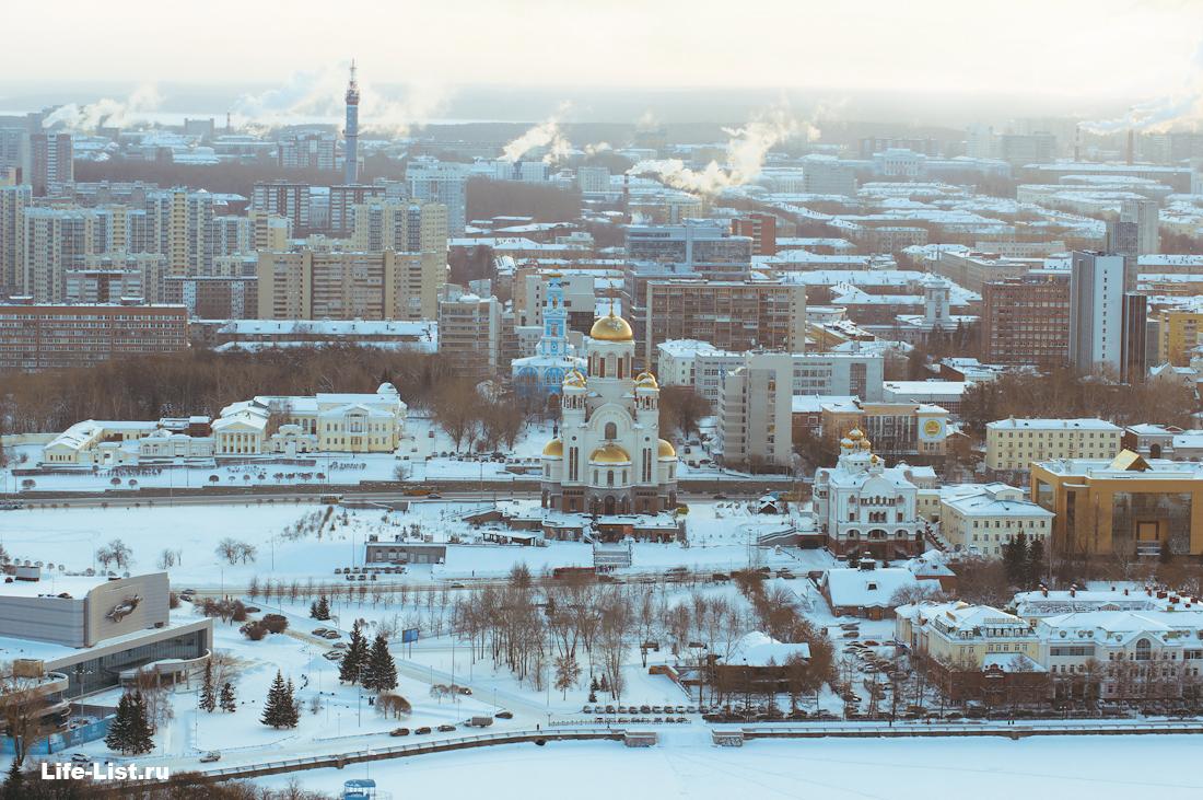 Храм на крови с высоты Екатеринбург красивое фото